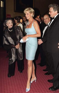 Princess Diana with Lady Pamela Harlech as she attends the Royal Gala Performance of 'Swan Lake' at the Royal Albert Hall, June 3, 1997.