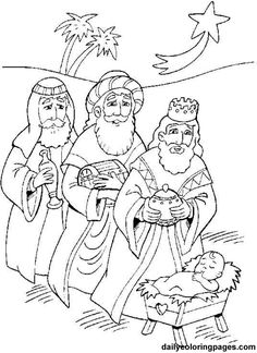 Jesus Christ Navity And Three Wise Men Advent Coloring Pages Nativity Coloring Pages, School Coloring Pages, Bible Coloring Pages, Coloring Pages To Print, Coloring Books, Kids Coloring, Adult Coloring, King Picture, Christmas Coloring Sheets