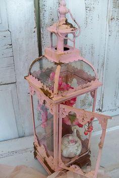 Pink ornate display box rusted distressed by AnitaSperoDesign, $225.00