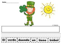March Cut and Paste Sentences in Spanish