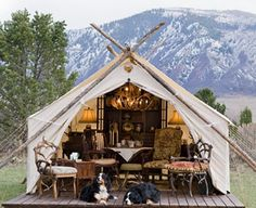 Would you like to go camping? If you would, you may be interested in turning your next camping adventure into a camping vacation. Camping vacations are fun Camping Glamping, Luxury Camping, Camping Hacks, Camping Dogs, Glam Camping, Camping Site, Backpacking Tent, Outdoor Life, Outdoor Living