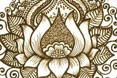 Lotus belly henna