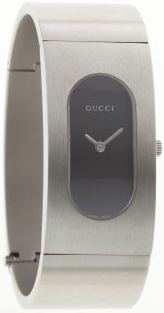 Gucci Stainless Steel 2400L Watch with Black Face