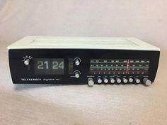 Vintage Klappzahlen Uhrenradio Telefunken Digitale 101