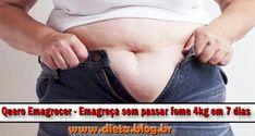 Quero Emagrecer: Emagre�a sem Passar Fome 4kg em 7 Dias