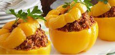 Beefy Quinoa-Stuffed Peppers
