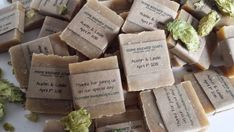 150 Beer Soap Wedding Favors Rustic Wedding by HomeBrewedSoaps