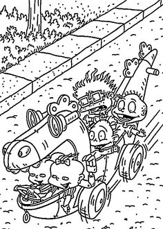 cool race coloring pages for kids printable free rugrats