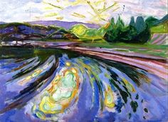 Waves against the Shore, Edvard Munch
