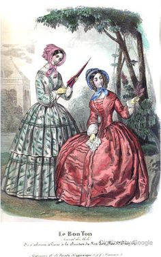 1840s   Blackwood's Lady's Magazine.                 via Google Books  (PD150)     suzilove.com