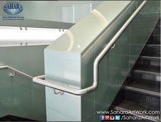 Close up from bended stainless steel railing from one of our NBAD handrail systems