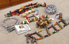 Materiales ecológicos y sin peligro para armar juguetes a nuestros loros ~ Loros en Argentina