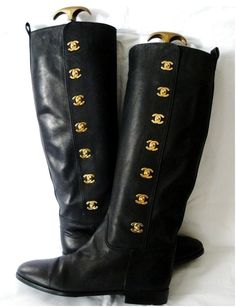 Chanel riding boots.  Gosh, I would LOVE to have these....