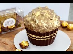 Giant Ferrero Cupcake. Tried and tested: It's quite time consuming but it's well worth the effort, it's amazing!