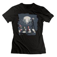 TASY Women's Jack Abbey Road Halloween Twon T-shirt - L Black