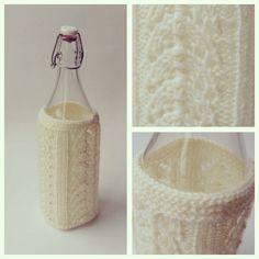Crocheted bottle holder.