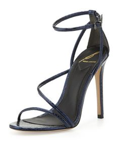 Labrea Metallic Snake Sandal, Navy by B Brian Atwood at Neiman Marcus.