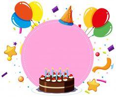 Cumpleaños Invitation Maker Gratis Moderna Feliz Aniversario Vetores E Fotos Free Happy Birthday Cards, Happy Birthday Template, Happy Birthday Frame, Vintage Birthday Cards, Birthday Card Design, Birthday Frames, Happy Birthday Greeting Card, Greeting Card Template, Card Templates