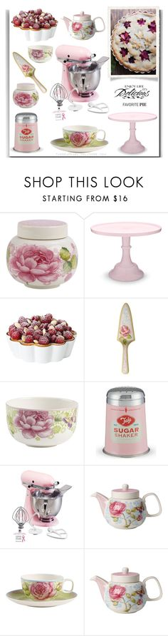"""Tea with Mixed Berry Pie"" by theseapearl ❤ liked on Polyvore featuring interior, interiors, interior design, home, home decor, interior decorating, Villeroy & Boch, Mosser Glass, Pillivuyt and Tala"