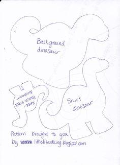 Dinosaur Felt Patterns, Applique Patterns, Stuffed Toys Patterns, Sewing Patterns, Dinosaur Pattern, Dinosaur Design, Dinosaur Dinosaur, Felted Wool Crafts, Felt Crafts