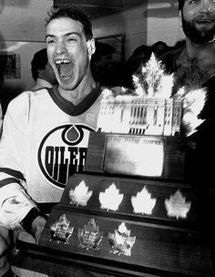 "1984 Edmonton Oiler's 1st cup.  Mark ""Moose"" Messier was the winner of the MVP during the cup run."