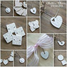Handmade Heart Clay Tags
