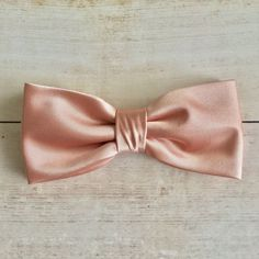 Rose Gold Bow tie Mens Bow Tie Solid Satin BowTie Bow Tie