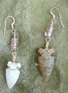 beaded arrowhead earrings project