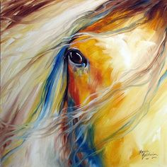 Beautiful painting of a gypsy vanner.