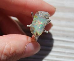 Your place to buy and sell all things handmade Raw Opal, Rough Opal, Natural Opal, Opal Rings, Healing Stones, True Beauty, Birthstones, Gemstone Jewelry, Sterling Silver Rings