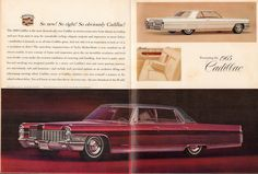 1965 Cadillac Coupe de Ville and Fleetwood Brougham Advertisement Time Magazine October 2 1964 | Flickr - Photo Sharing!