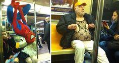 Imágenes que hacen pensar que las personas con mejor sentido del humor están en el metro