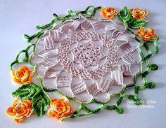 Tecendo Artes em Crochet: Mais um Centro de Mesa Primavera!