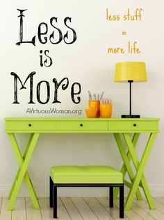 Having less stuff means having more time for life. It's time to declutter! @ AVirtuousWoman.org #ATimeToClean #declutter