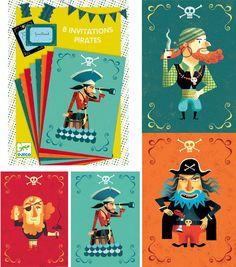 carte d'anniversaire pirate Djeco