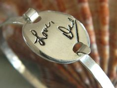 Memorial Signature Jewelry  your loved ones' by Sparklesme on Etsy, $139.00