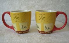 "2 Coffee Mugs ""Our Best Talks & Best Laughs are always over a GoodCup of Coffee"""