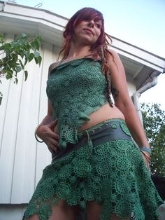i love this wish i had a better body and the guts to wear it lol Fairy Queen, Nice Body, Macrame, Crochet Top, Weaving, Craft Ideas, Romantic, My Favorite Things, Trending Outfits