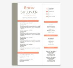 Clean Diy Resume And Cover Letter Templates For By Resumetemplate