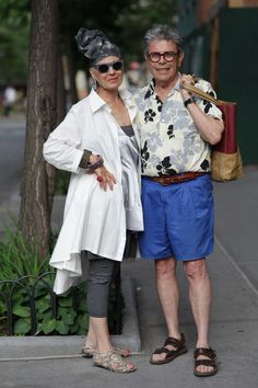 ADVANCED STYLE - Her, yes - not so sure about her buddy.