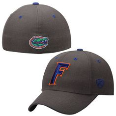 newest collection 48170 185d0 Mens Florida Gators Top of the World Charcoal Dynasty Memory Fit Fitted Hat