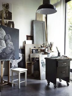 Stunning earthy interiors inspired by nature. From The Natural Home by Hans Blomquist. My Art Studio, Dream Studio, Home Studio, Studio Spaces, Art Atelier, Atelier Creation, Workspace Inspiration, Interior Design Inspiration, Design Commercial