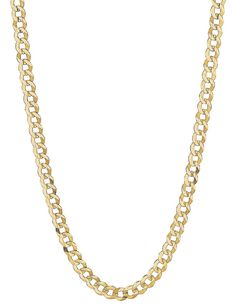 Precious Stars 14k Two-tone Gold 3.2-mm White Pave Stamped Figaro Chain Necklace