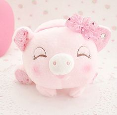 kawaiistomp:  Piggy Plush ~ (photo credit and where to get it) (please do not delete the credit)