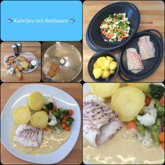 ALL IN: Heute kommt Fisch auf den Tisch! : *** Kabeljau mit Senfsauce, Kartoffeln und Gemüse ***