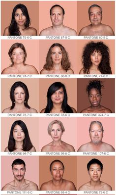 """The awesome tumblr site of the HUMANAE project by artist Angelica Dass. She does portraits of individuals using an exacting lighting setup, against a Pantone backdrop that matches their skin tone. A new view of """"black and white"""" and other """"skin colors""""."""