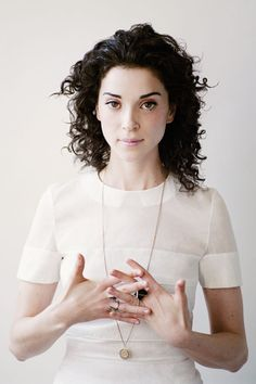 Annie Clark for Paper Mag. // I THINK if I were patient enough to grow my hair out I could do this, but it would take a lot of work.