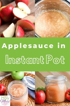 Easy recipe to make applesauce in the Instant Pot pressure cooker. #instantpot #instapot #pressurecooker Instant Pot Pressure Cooker, Pressure Cooker Recipes, Pressure Cooking, Apple Broccoli Salad, Pressure Cooker Applesauce, Homemade Applesauce, Apple Crisp Recipes, Incredible Recipes, Eating Healthy