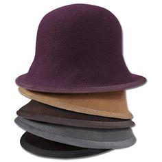 Ellen Paulssen - Hut aus Baskenmützen in Lila, Camel, Braun, Grau-Melange oder Schwarz