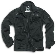 BNWT Surplus Vintage Raw Brooklyn M65 Style Military Jacket, Black, Small to XXL | eBay